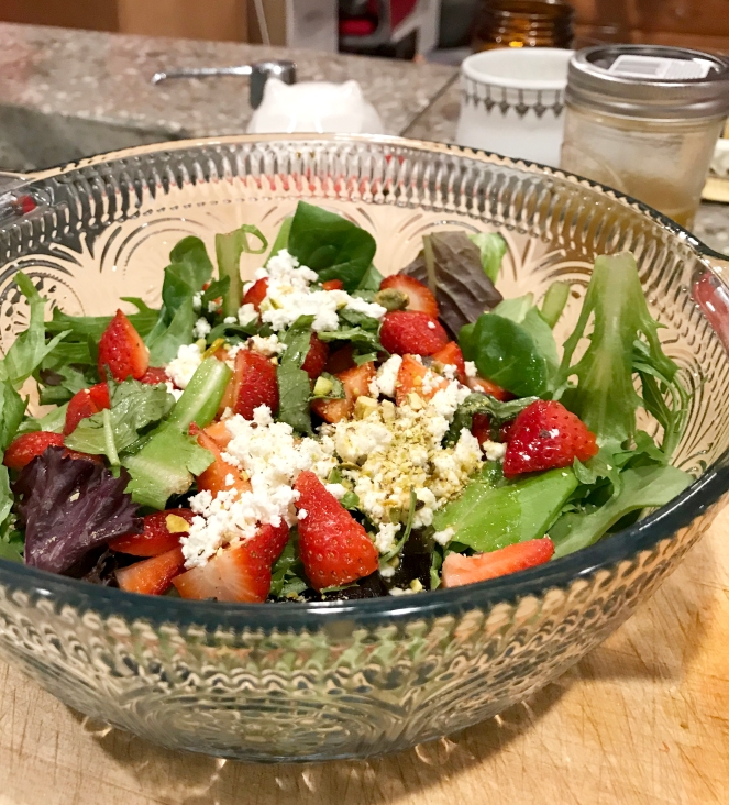Organic Spring Strawberry Salad